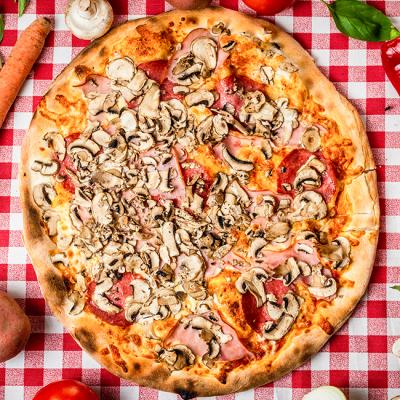 Pizza Prosciutto Funghi Salami- Pizzeria Napoleon Timisoara