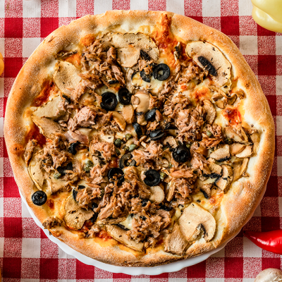 Pizza Tonno e Aglio